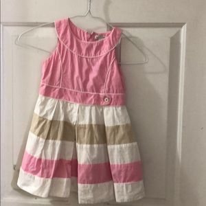 Pink and White Mayoral Chic Dress Size 4